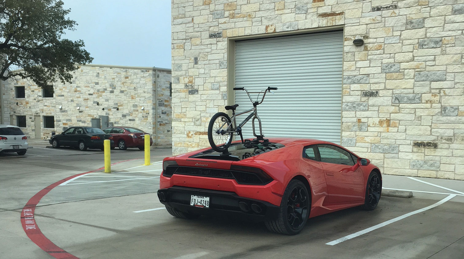 Lamborghini bike rack